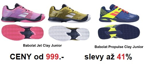 Výprodej juniorské tenisové obuvi BABOLAT - slevy až  41%