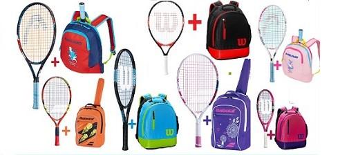 Výhodné sety- dětská tenisová raketa a batůžek