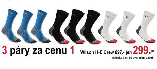 Tenisové ponožky Wilson za neskutečný peníze