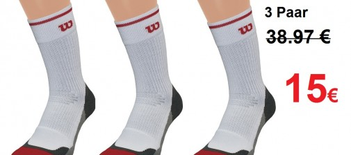 Wilson Tennissocken Aktion