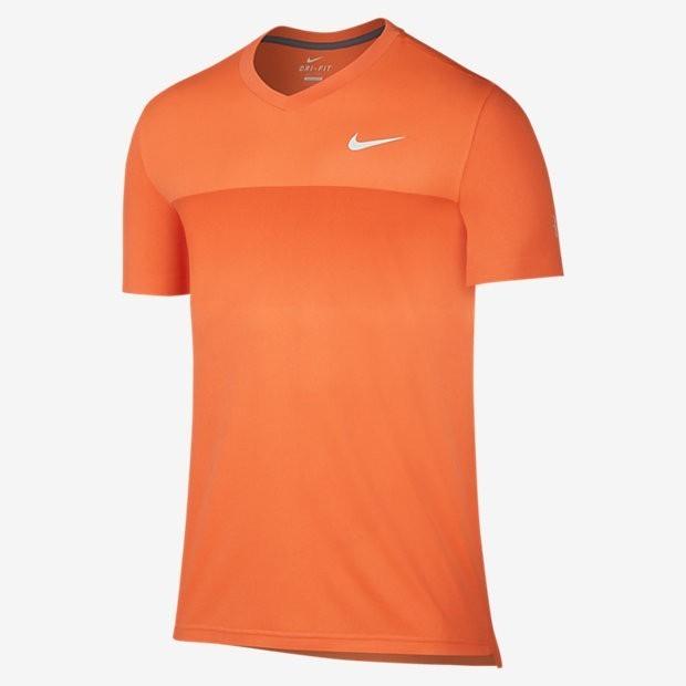 71a855d0459 Tenisové tričko NIKE Premier Federer Crew neonově oranžové