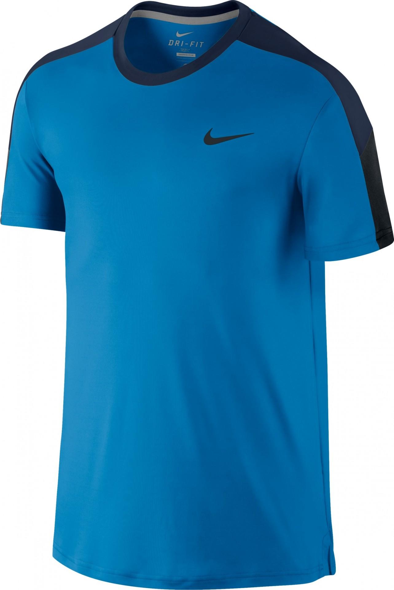091046123ff0 Tenisové tričko Nike Team Crew Court 644784-435 modré