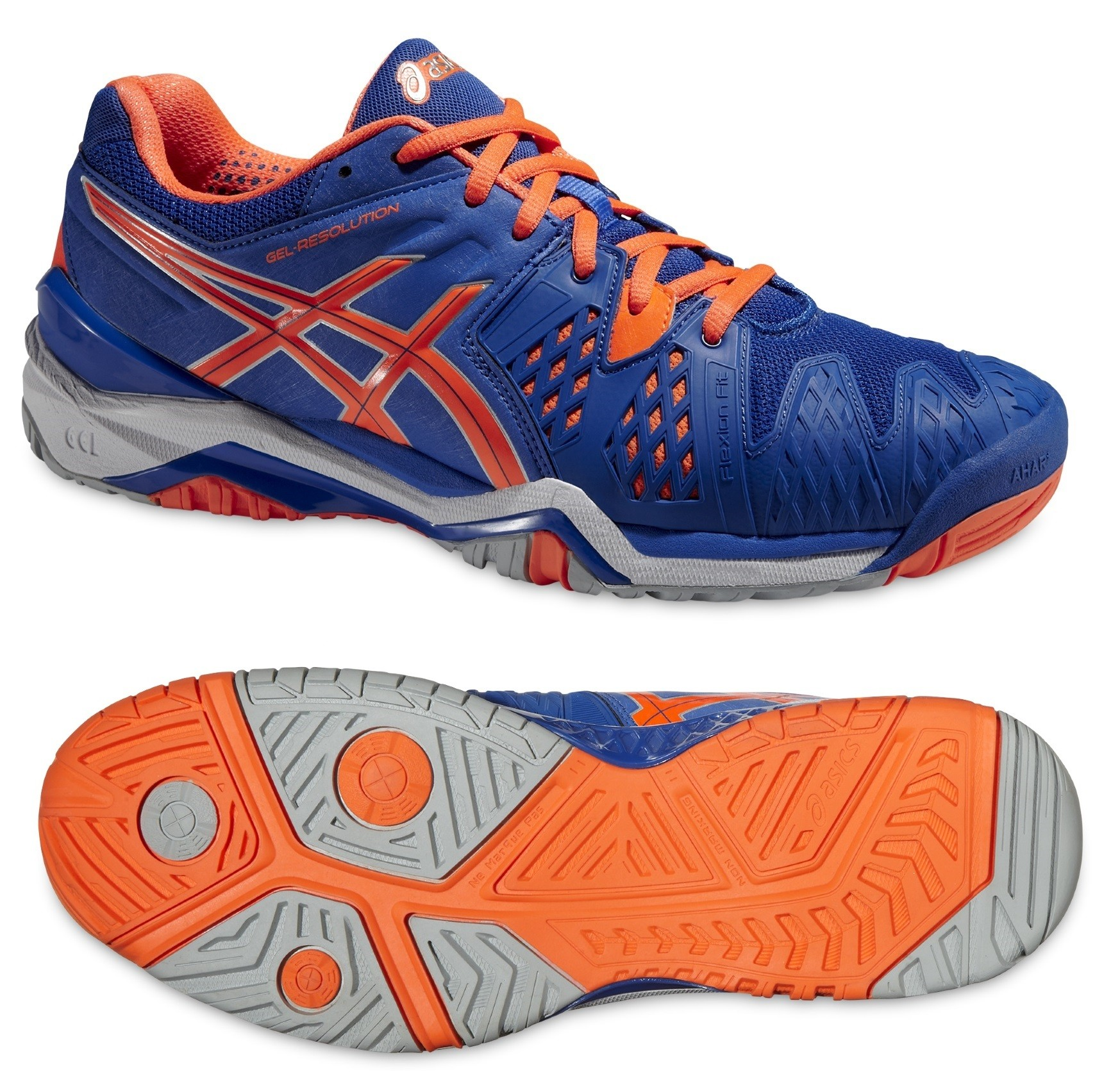 ba736e80657 Tenisová obuv Asics Gel Resolution 6 E500Y-4230 modro-oranžová