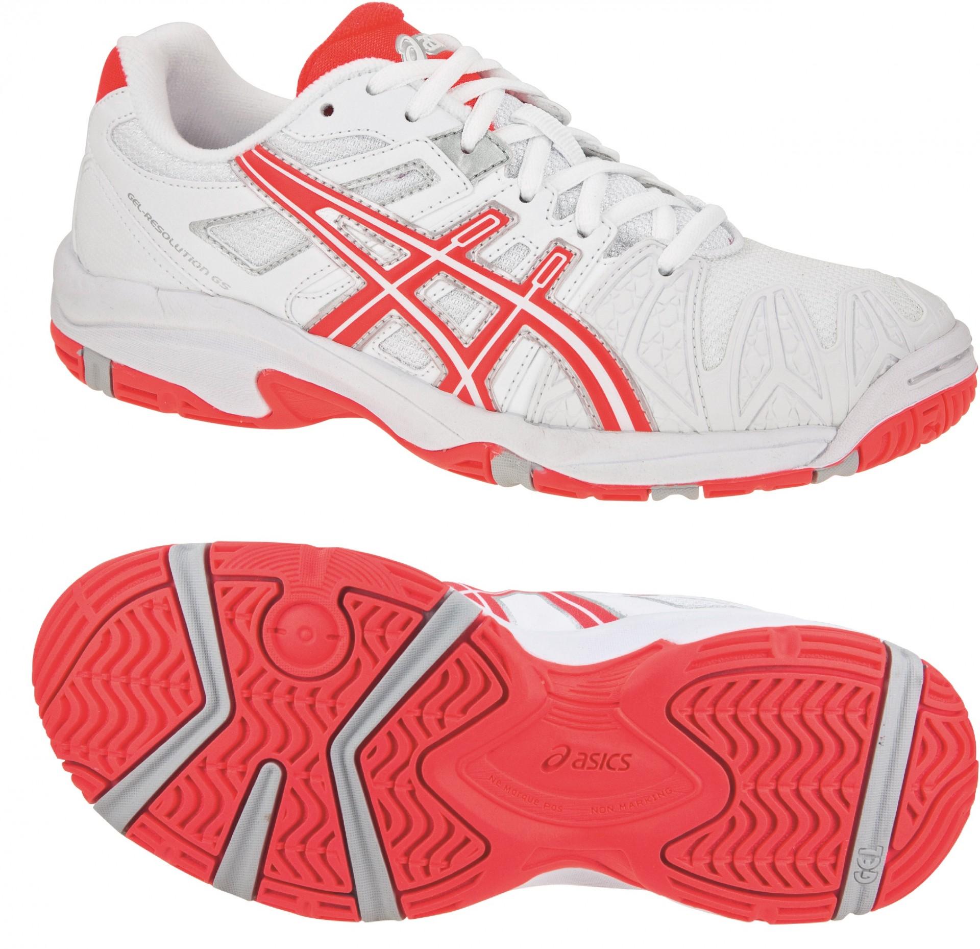 Dívčí tenisová obuv Asics Gel Resolution 5 GS C310Y-0121 bílo-červená 72e9d50532