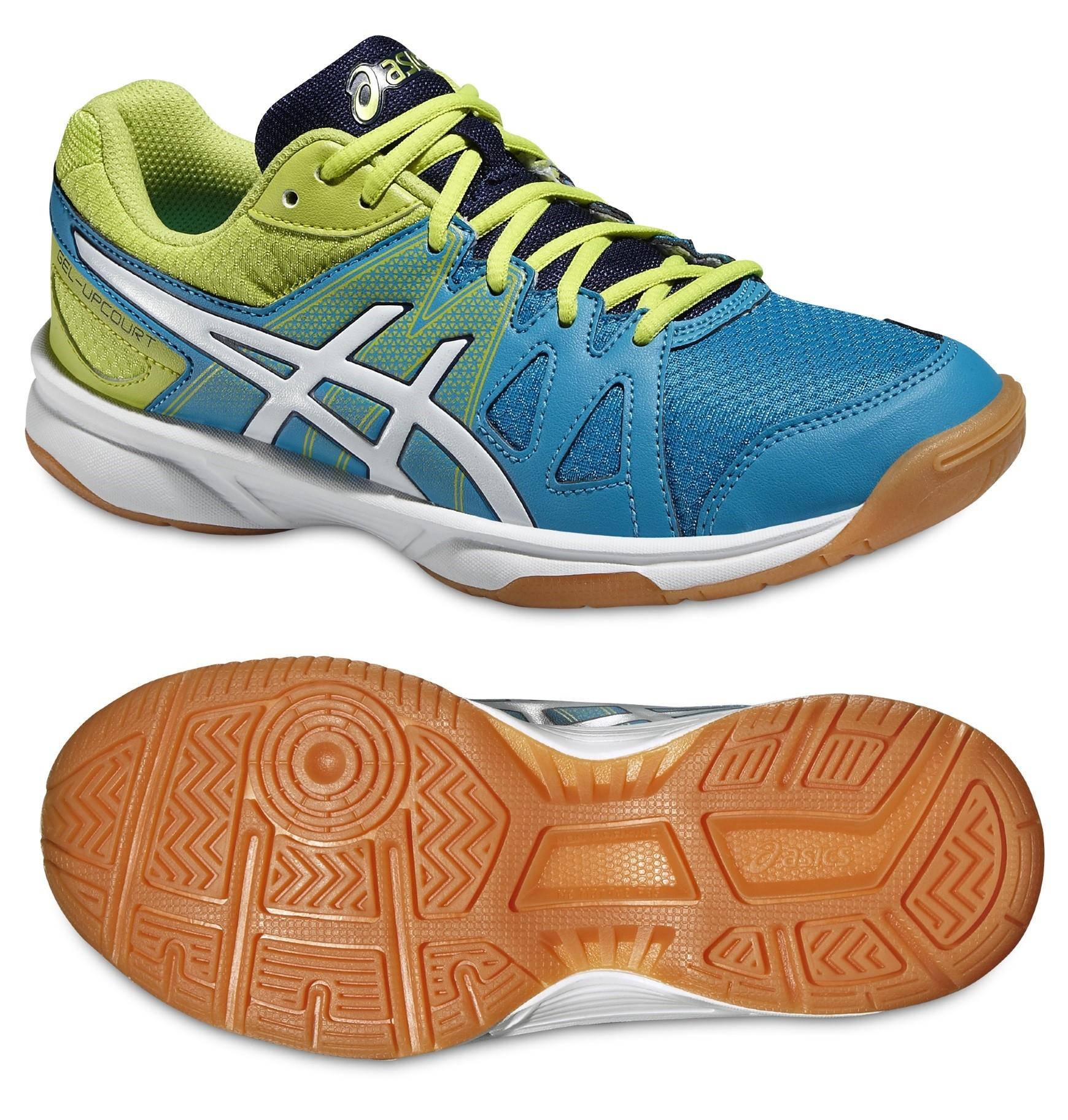 Dětská sálová - halová obuv Asics Gel Upcourt GS C413N-4201 modro-zelená 8eef3a3cc2