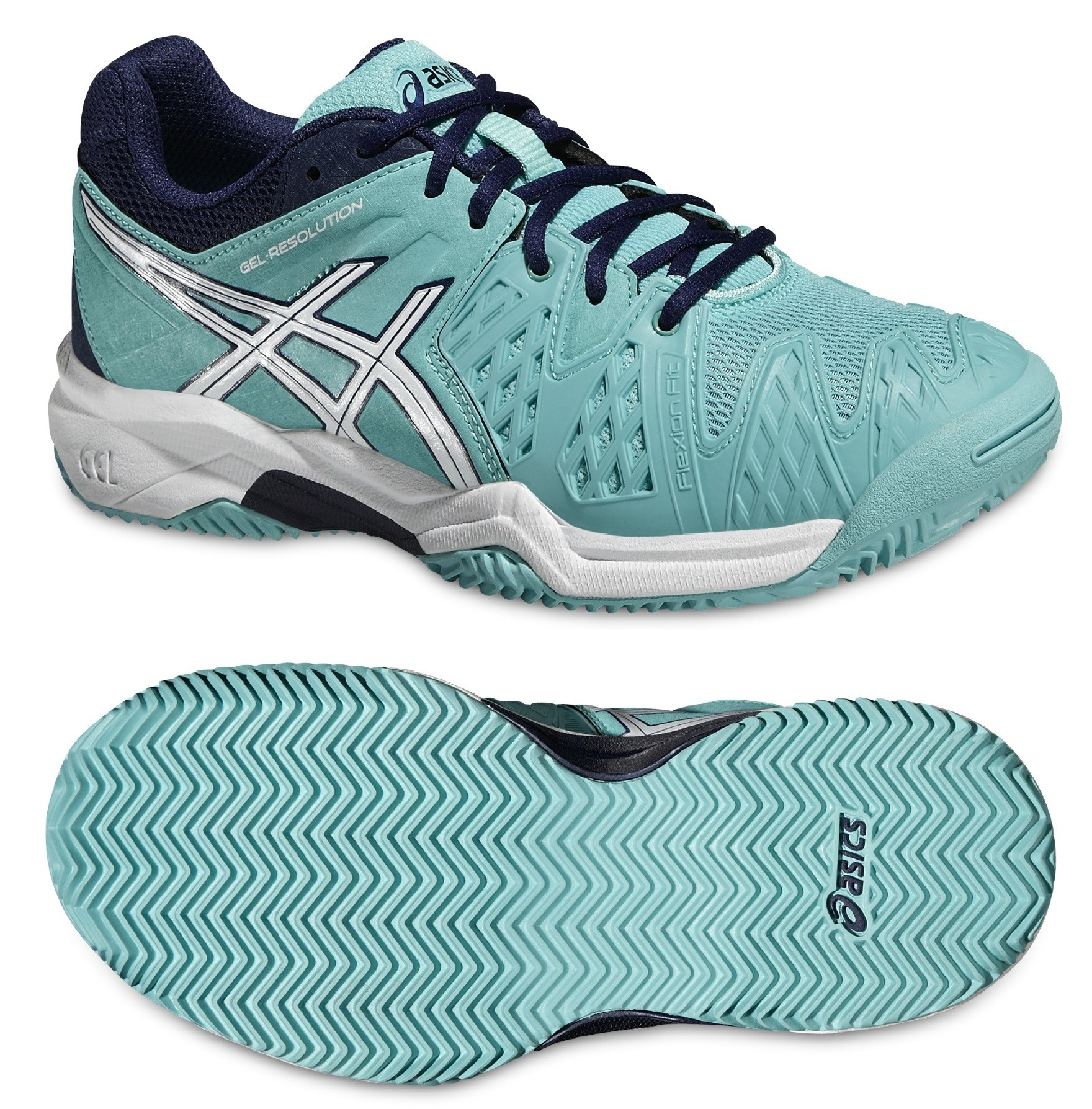 Dětská antuková obuv Asics Gel Resolution 6 Clay GS C501Y-3901 světle modrá 0b0fd94345