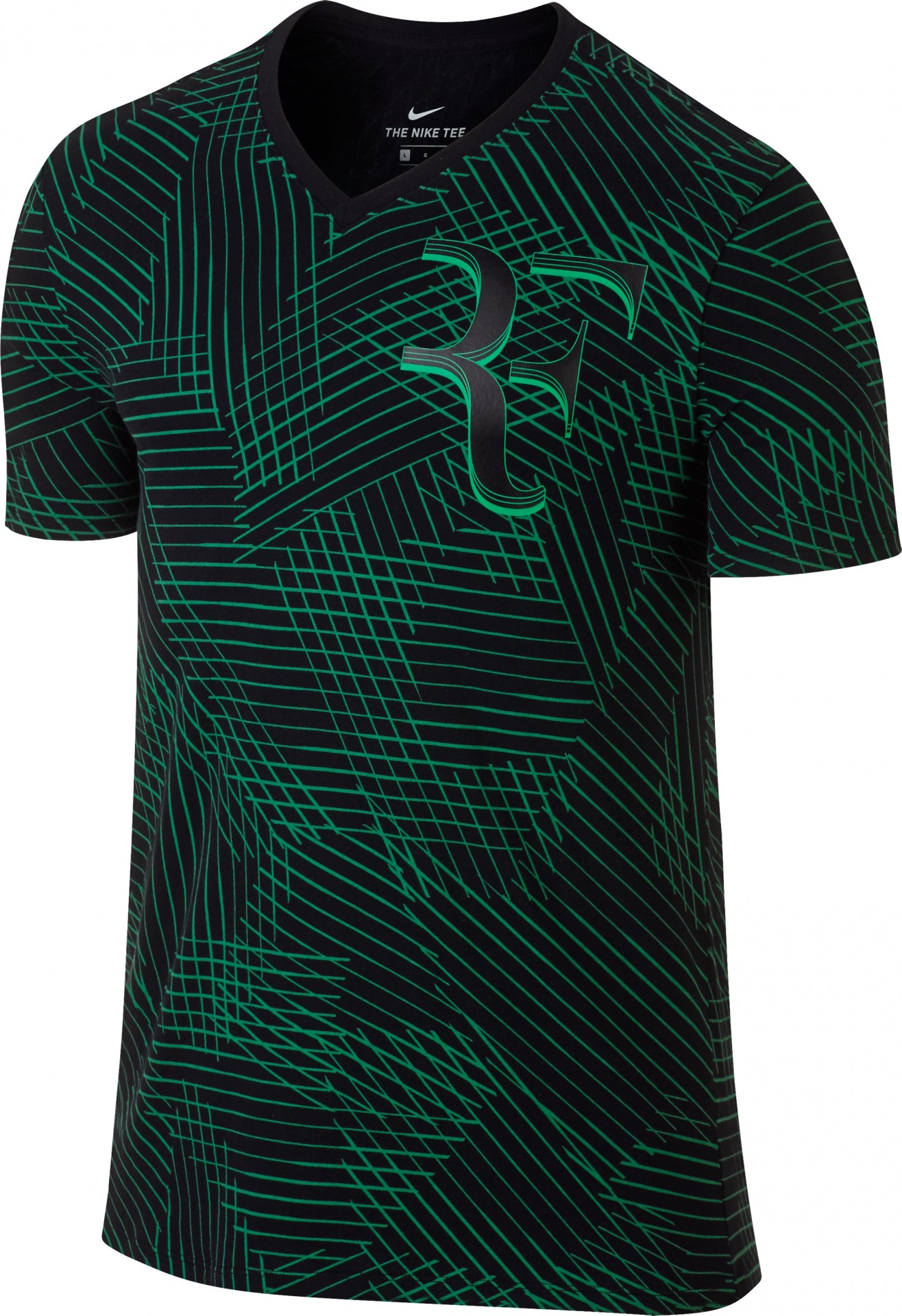 8b2fba149ff5 Tenisové tričko Nike Court Roger Federer 831466-010 černo-zelené