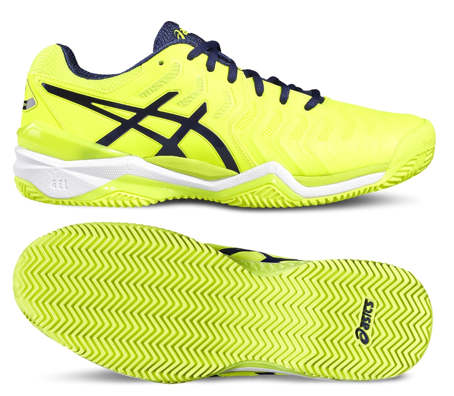 b2483330114 Tenisová obuv Asics Gel Resolution 7 Clay E702Y-0749 neonově žlutá