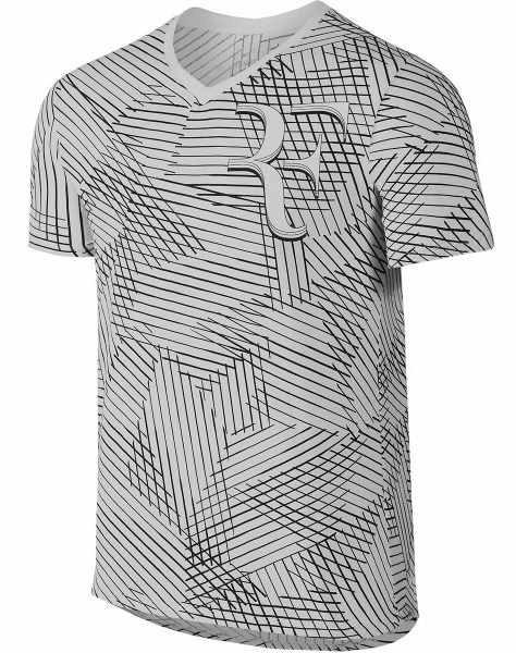 1cf2c803402 Tenisové tričko Nike Court Roger Federer 831466-063 šedé