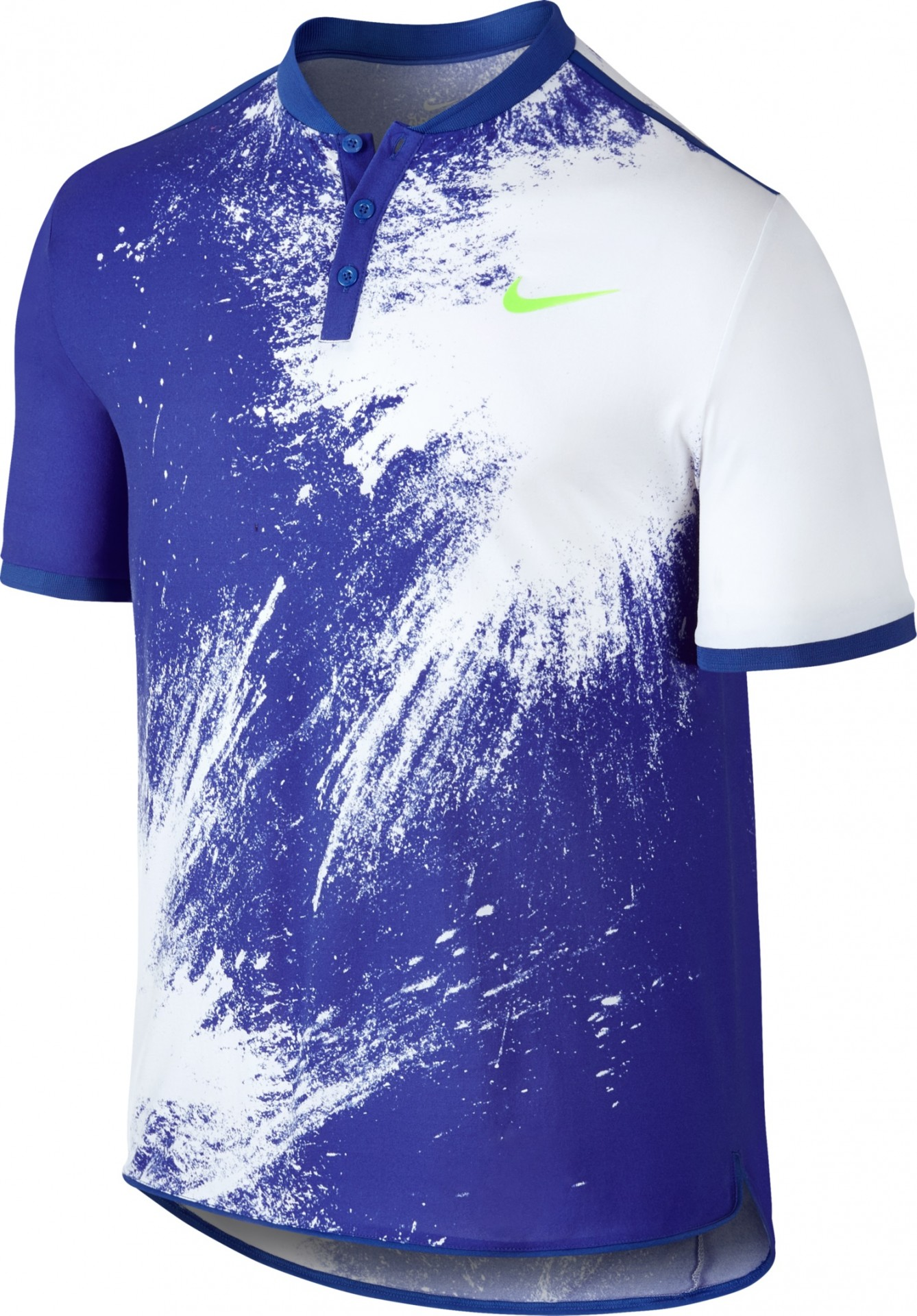 924c57039e1f74 Herren Tennis-T-Shirt Nike Court Breathe Advantage Polo Topspin 836457-452  blau