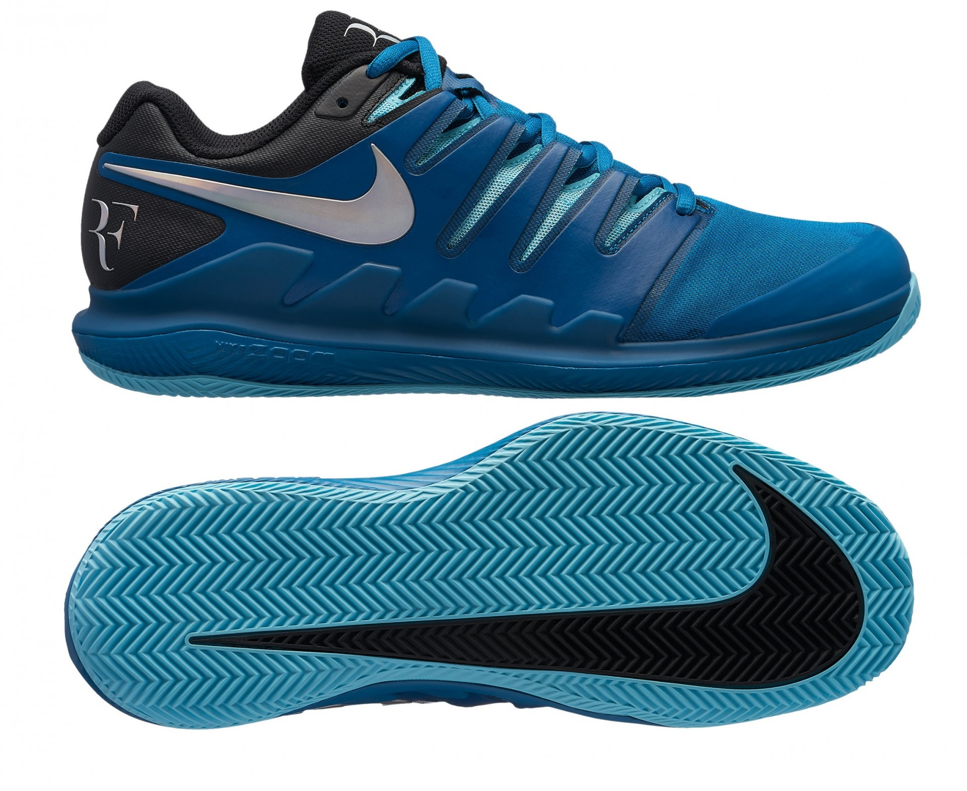 buy popular b06a4 88cce Tennisschuhe Nike Air Zoom Vapor X Clay AA8021-300 mit RF Monogram