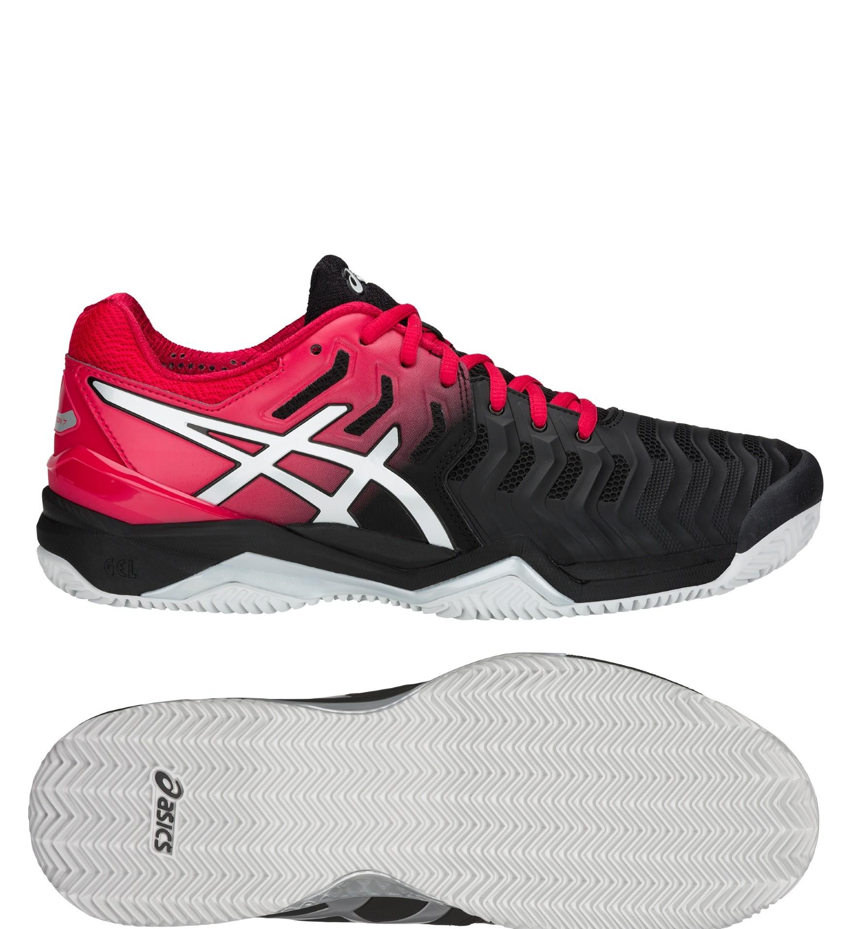 cafc0e4d6d8 Tenisová obuv Asics Gel Resolution 7 Clay E702Y-001 černo-červené
