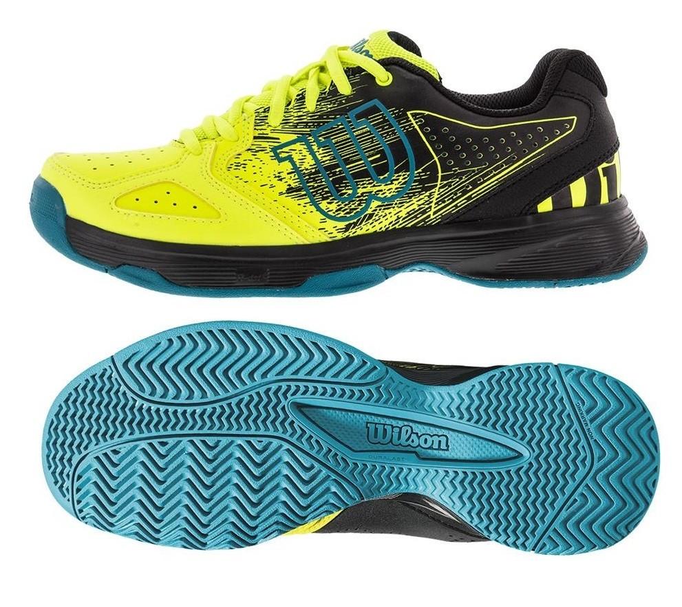 f7b6d133999 Dětská tenisová obuv Wilson Kaos Comp JR WRS323350 žlutá
