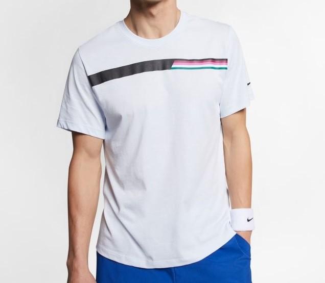 ab524d5a7a Tenisové tričko Nike Court Tee AO1140-442 šedé