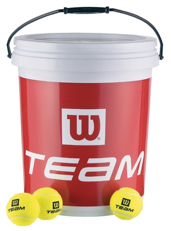 Tenisové míče Wilson Team Trainer kbelík 72 ks