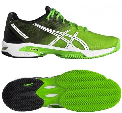 tenisová obuv ASICS GEL-SOLUTION SPEED 2 CLAY  E401J-8590 zelená