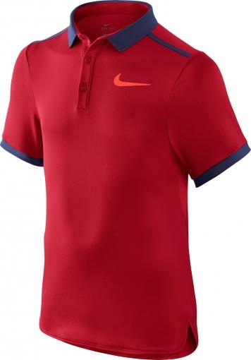 Jungen Tennis T-Shirt Nike Solid Polo 724435-657 rot