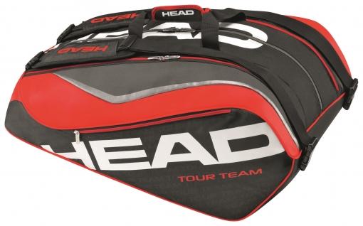 Tenisový bag Head Tour Team 12R 283216 černo-červený