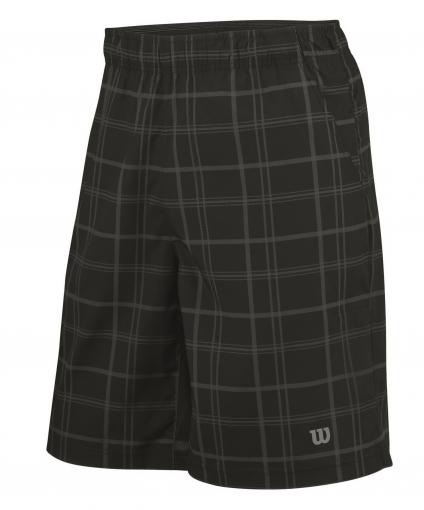 Dětské tenisové kraťasy Wilson Rush Plaid 8 Short, WR2008700 černo-šedé