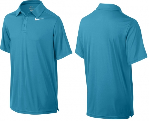 dětská tenisová polokošile  NIKE Team Court 642071-407 modrá