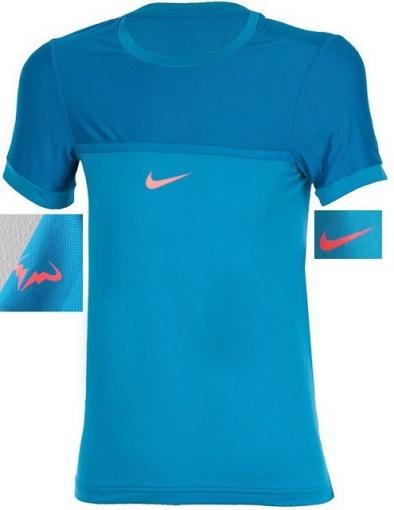Tenisové tričko Nike Challenger Premier Rafa Crew modré 646097-407