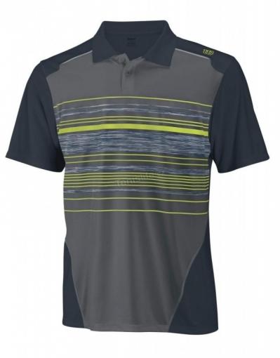 tenisová polokošile Wilson Specialist Stripe Polo WR1071200 černo-zelená