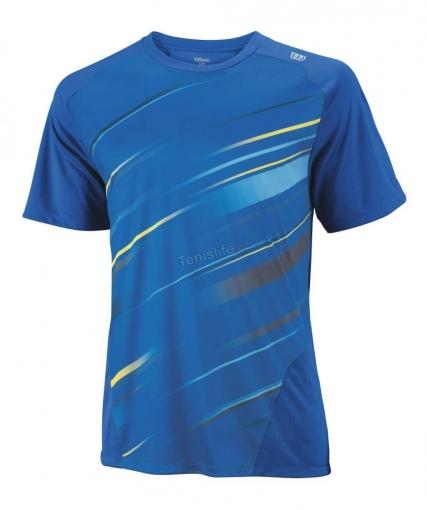 tenisové tričko WILSON Cardiff BLUR CREW modré