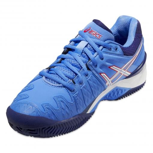 65a5e99e4ff ... Dámská tenisová obuv Asics Gel resolution 6 Clay E553Y-4701 modrá ...