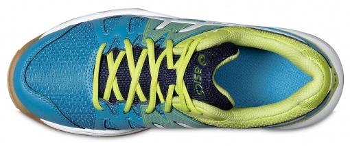 c383dde208f ... Dětská sálová - halová obuv Asics Gel Upcourt GS C413N-4201  modro-zelená ...