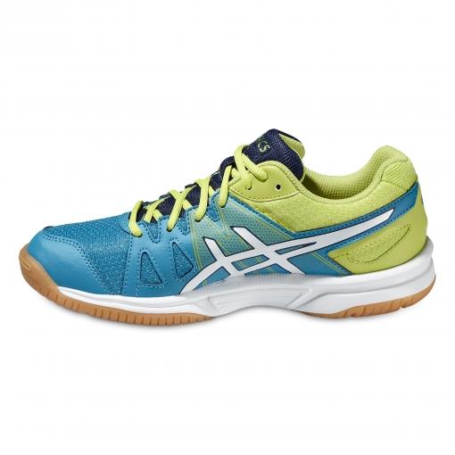 f0a9e0692c4 ... Dětská sálová - halová obuv Asics Gel Upcourt GS C413N-4201 modro-zelená