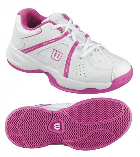 Dívčí tenisová obuv Wilson Envy JR WRS320710 bílo-růžová