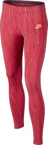Dívčí legíny Nike Pro Printed 806391-850 červené