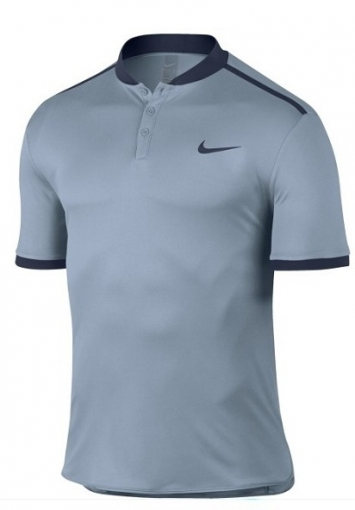 Dětské tričko Nike Advantage Polo Solid 848215-449 modro-šedé
