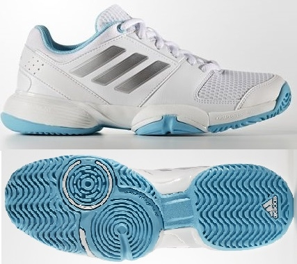 Dětská tenisová obuv Adidas Barricade Club xJ BA7706 bílé