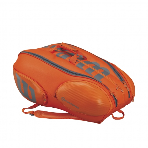 Tenisový bag Wilson Vancouver  BURN 15 Pack oranžový