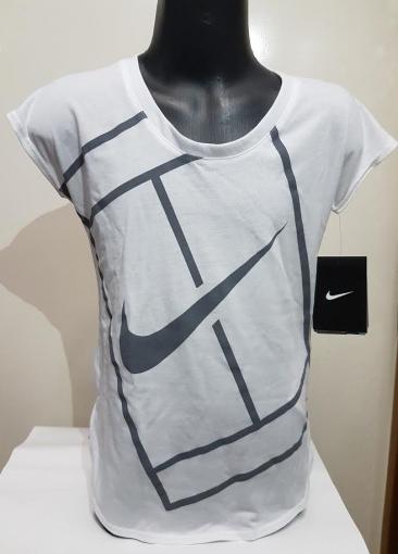 Dívčí tenisové tričko Nike Baseline Top 822280-100 bílé