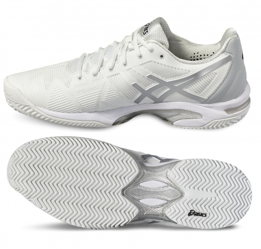Tenisová obuv Asics Gel Solution Speed 3 Clay E601N-0193 bílá