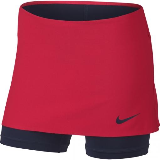 Dívčí tenisová sukně Nike Power Skin Skirt 859934-653 červeno-modrá