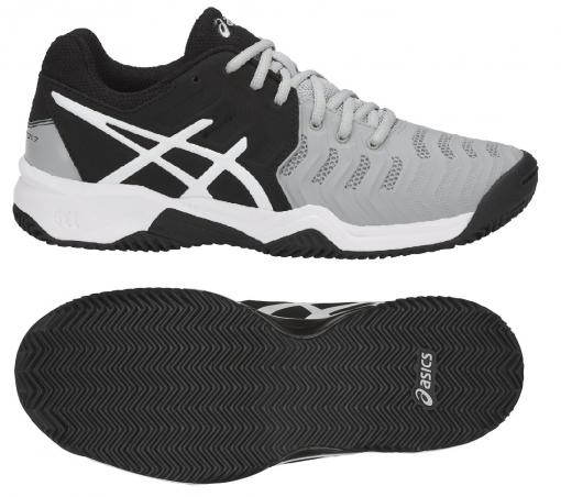 Dětská tenisová obuv Asics Gel Resolution 7 Clay GS C800Y-9690 šedá
