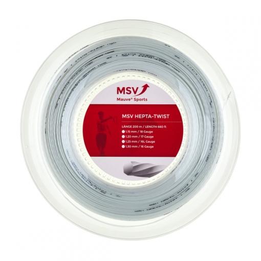 Tenisový výplet MSV HEPTATWIST bílý 200m