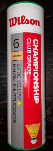 Badmintonové košíky Wilson Championship Club Grade 6 ks žluté wrt6044