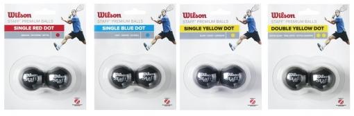 Squashový míč Wilson STAFF Premium ball- 2 ks