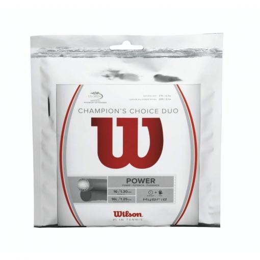 Tenisový výplet Wilson Champion´s Choice Duo (Hybrid)