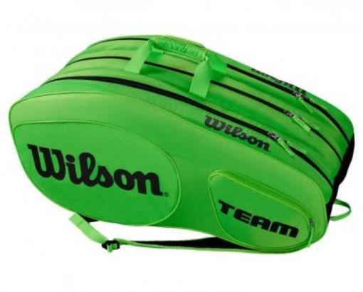 Tenisový bag Wilson Team III 12 Pack zelený