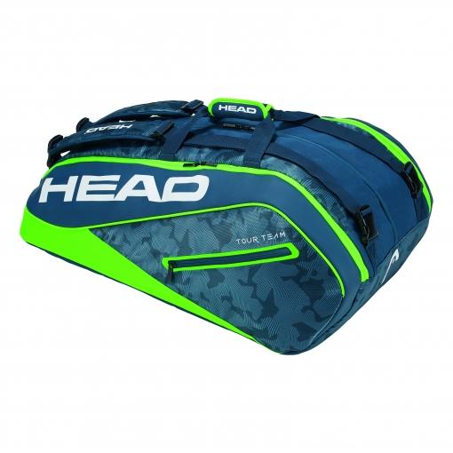 Tenisový bag Head Tour Team 12R Monstercombi 2018 navy-green