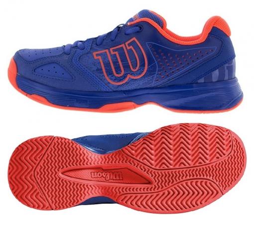 Dětská tenisová obuv Wilson Kaos Comp JR WRS323340 modrá