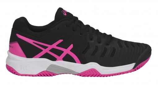 ... Dětská tenisová obuv Asics Gel Resolution 7 Clay GS C800Y-9020 černá s  růžovou ... 1746c696e3