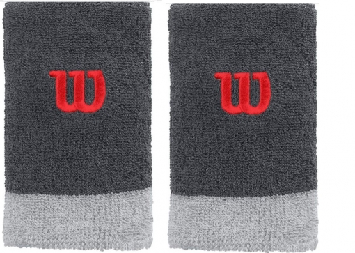 Schweißband WILSON Extra Wide  Wristband grau
