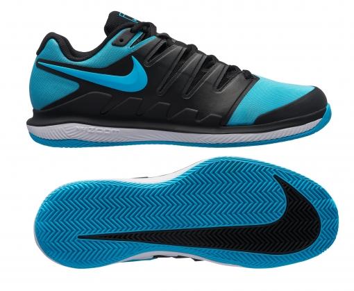 Dětská antuková obuv Nike Air Zoom Vapor X Clay AA8021-003 modro-černá