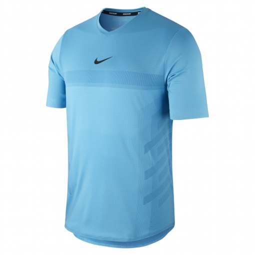 Tenisové tričko NIKECOURT AEROREACT RAFA 888206-438 modré